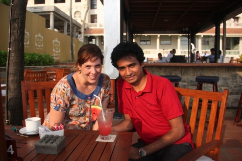 Sherpa and I in Colombo, Sri Lanka