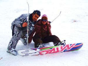 Ski couple