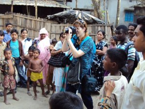 Photographing cobras in the snake charmers' village of Ghuradia, Bangladesh