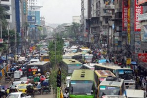 Regular Dhaka traffic congestion. Photo credit: Photo: M.A. Taher