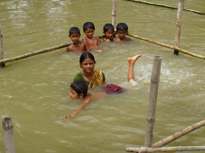 Swimming classes. Photo courtesy of Centre for Injury Prevention and Research, Bangladesh