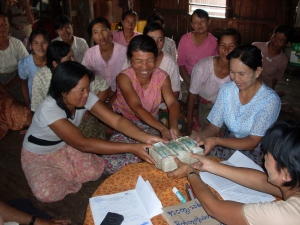 Loan disbursement in Shan state. Photo courtesy of Pact
