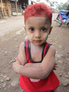 A young boy in Myawaddy.