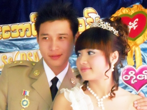 Ei Mon San and Sai Aung Zaw Tun met on Google Talk and married four years later.