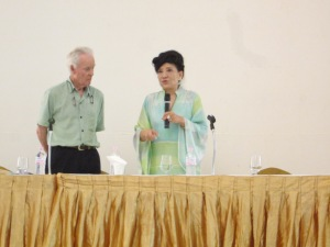 Jung Chang at the Irrawaddy Literature Festival. 1 February 2013