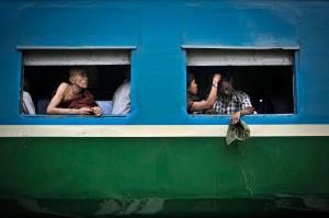 The Yangon circle line train. PHOTO Kaung Htet/The Myanmar Times