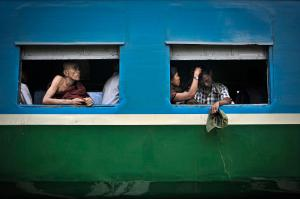 The Yangon circle line train. PHOTO Kaung Htet/The Myanmar Times