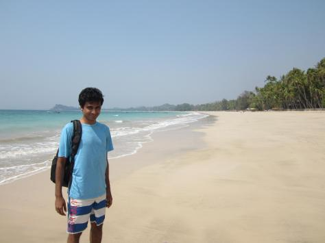My husband, in paradise