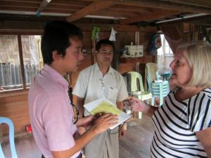 Tracy and Phyo Wai at the orphanage in Dalla