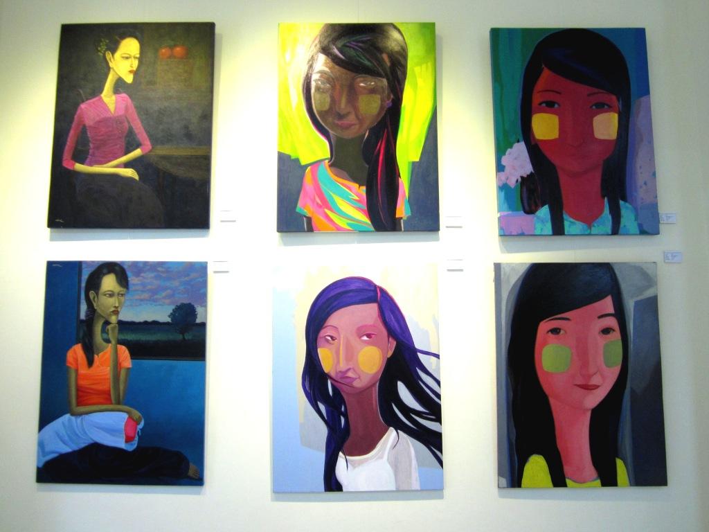 Artwork at River II Gallery, Yangon