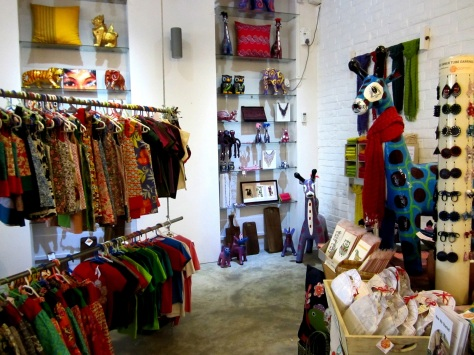 If you need a giraffe with a scarf, head straight to Pomelo! It's my favourite handicrafts store in Yangon - and it's all fair trade.
