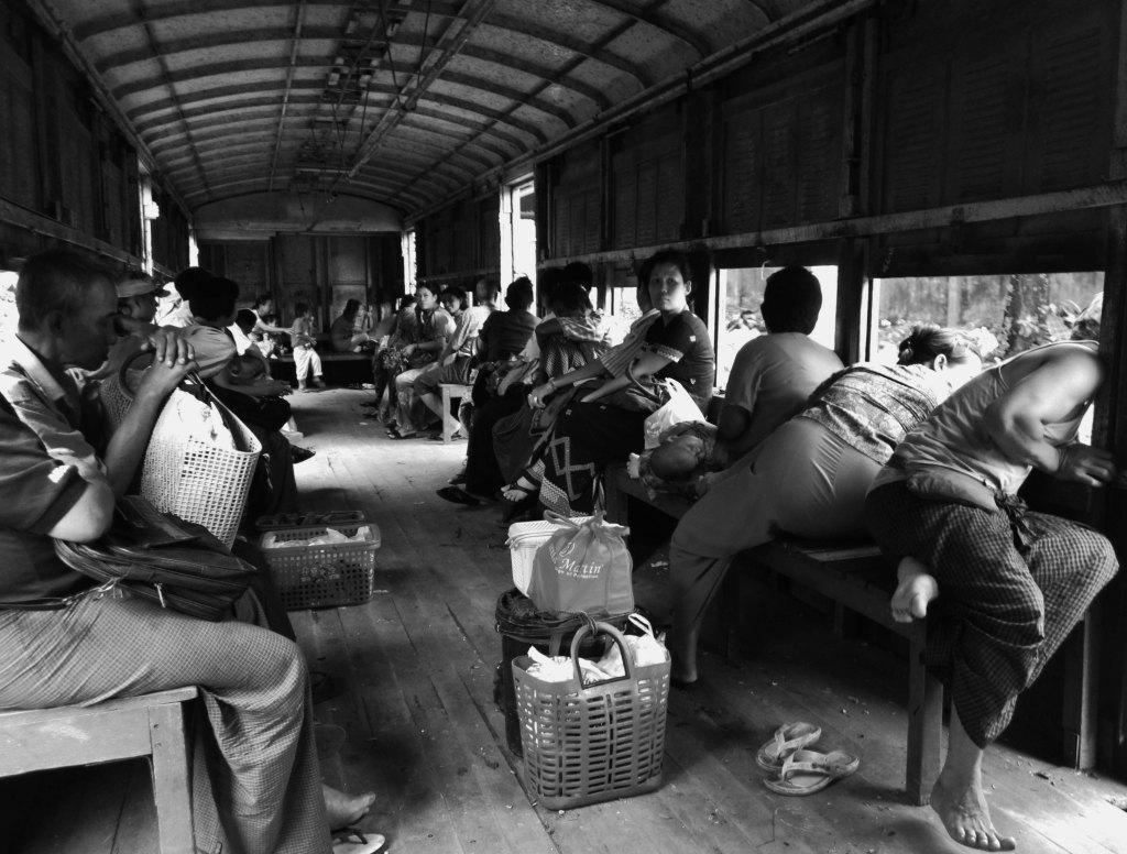 The Yangon Circle Line train