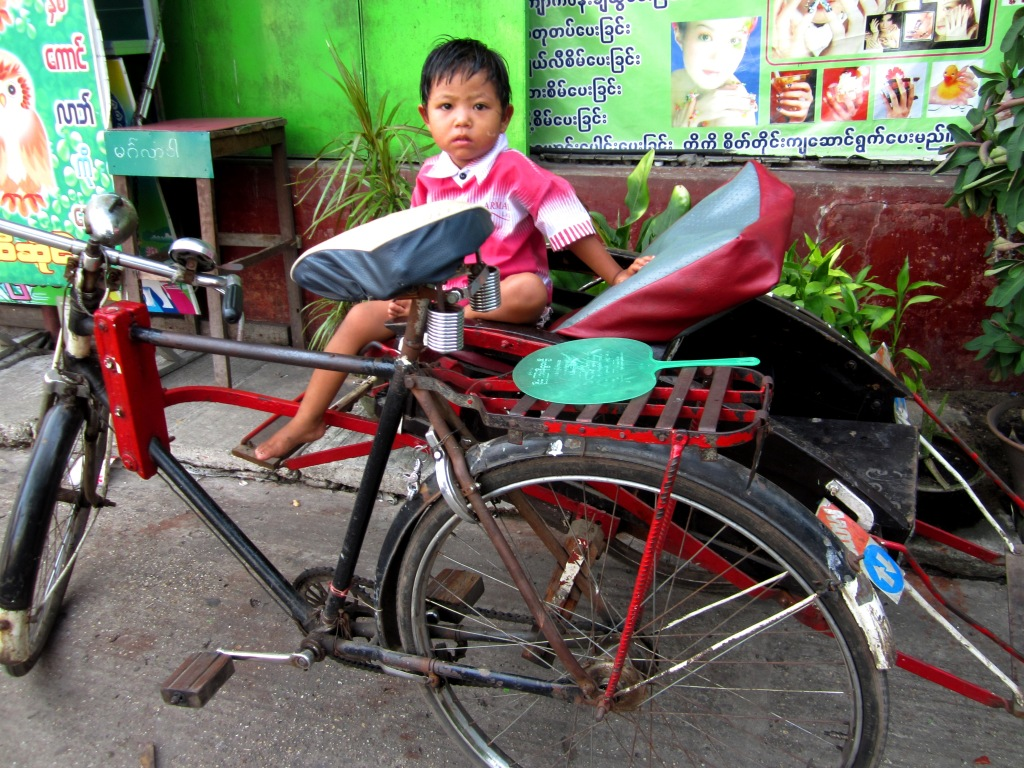 Taking a trishaw for a short trip is another great local experience - expect to pay around K300 for five minutes or so. And they aren't powered by babies ;)