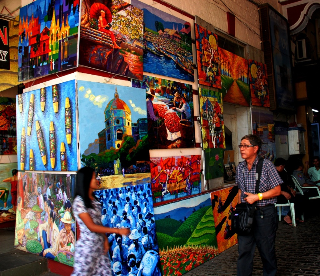 Scour local artwork at Bogyoke Market and find yourself a treasure