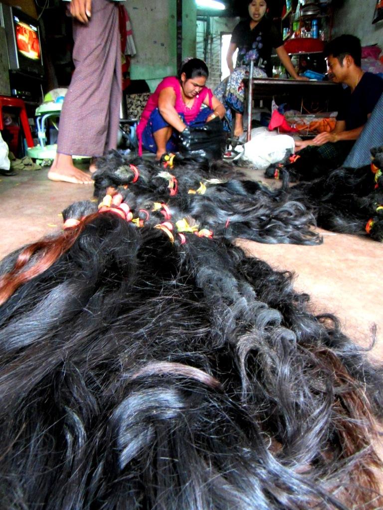 A hair whole saler in Thaketa township