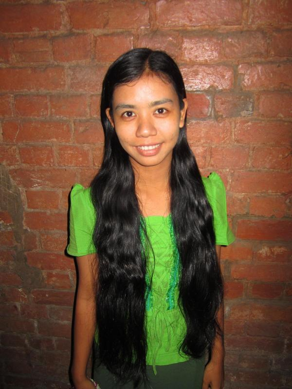 Mya Kay Khine has been growing her hair for 16 years.