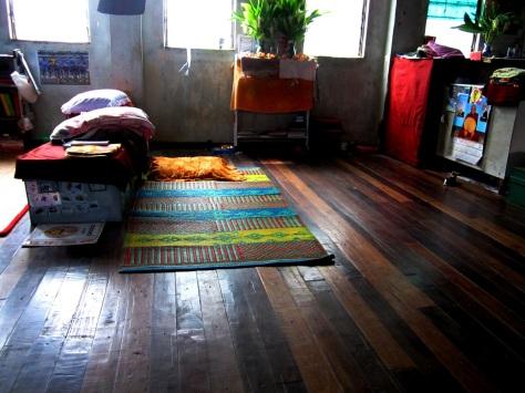 Where a monk sleeps
