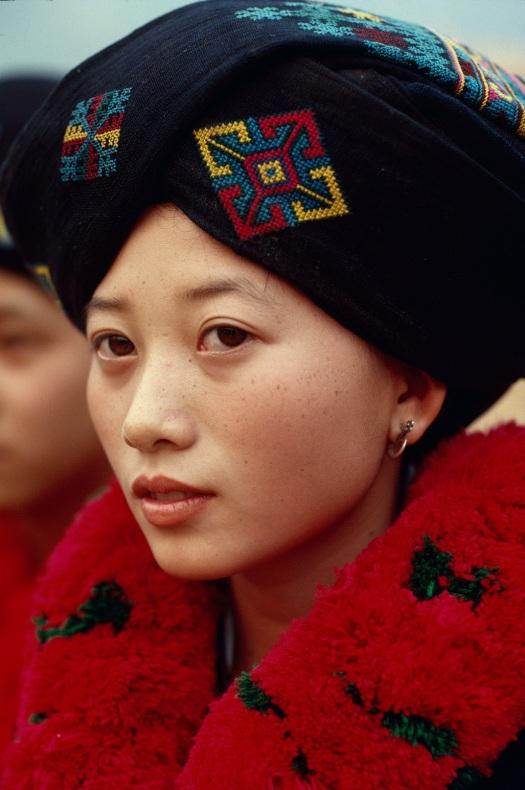A young Yao lady in Shan state, 1987. Photo: Richard K. Diran