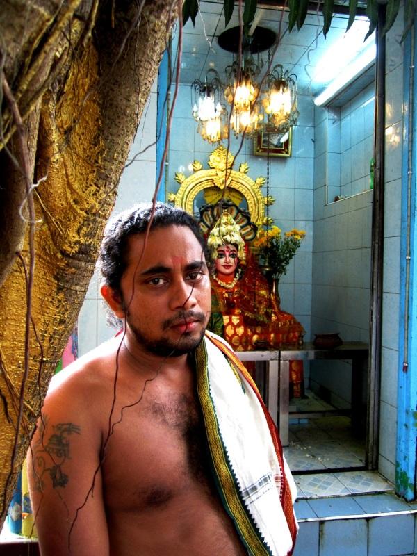 Madee at Sri Hanuman temple in Yangon.