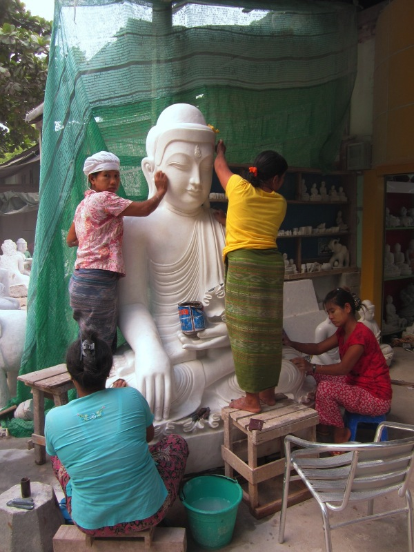 A marble carving workshop