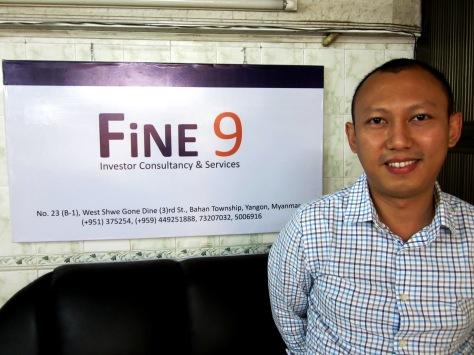 Nyan Lynn Aung, director of Fine 9