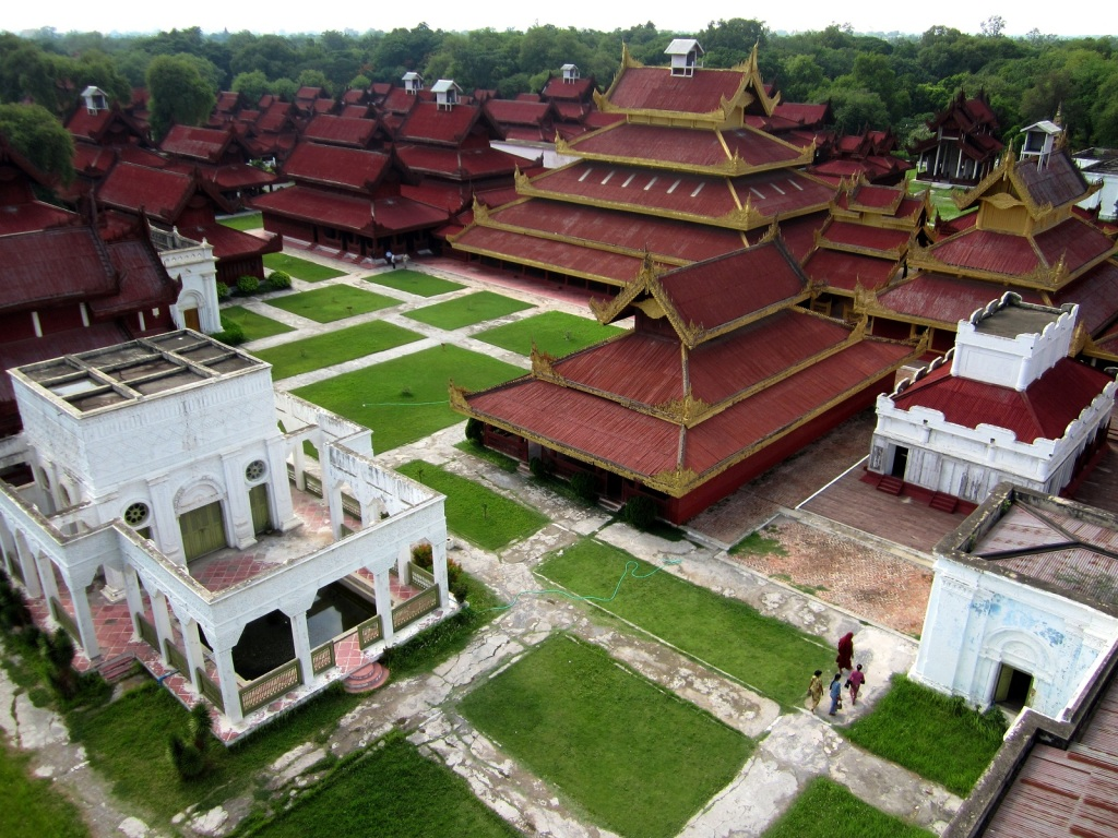 Mandalay Palace as seen from the viewing tower