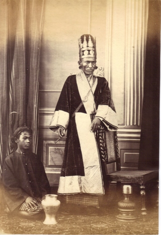 Minister in Court Dress and Servant - Photo by J. Jackson