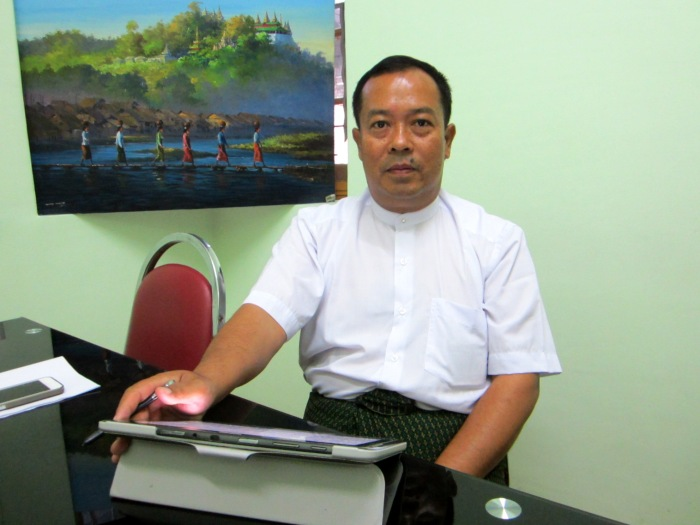 Kyaw Myat Moe, Secretary General of Myanmar Restaurants Association