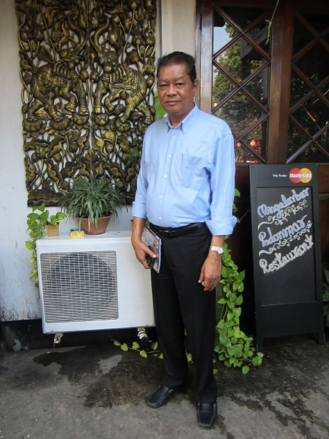 Sonny Aung Khin, Vice-Chairman of Myanmar Restaurants Association