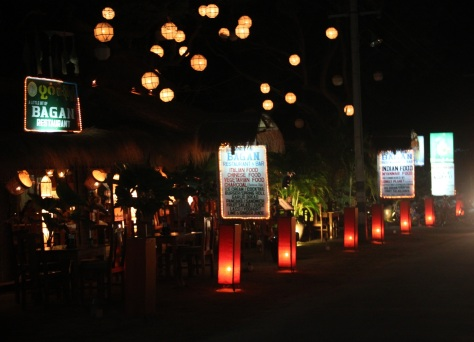 Restaurant Street in Nyaung Oo, Bagan