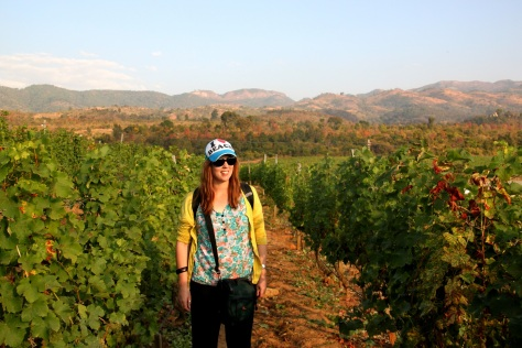 Me among the grapes at Red Mountain.