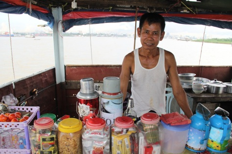 Cook on Yangon to Pathein ferry. Photo: Simon Richmond