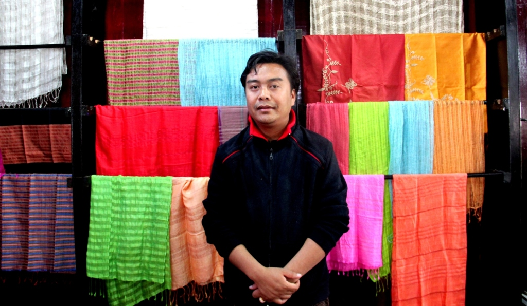 The owner of Khit Sunn Yin, Myint Thein Htun in Inle Lake, Myanmar.
