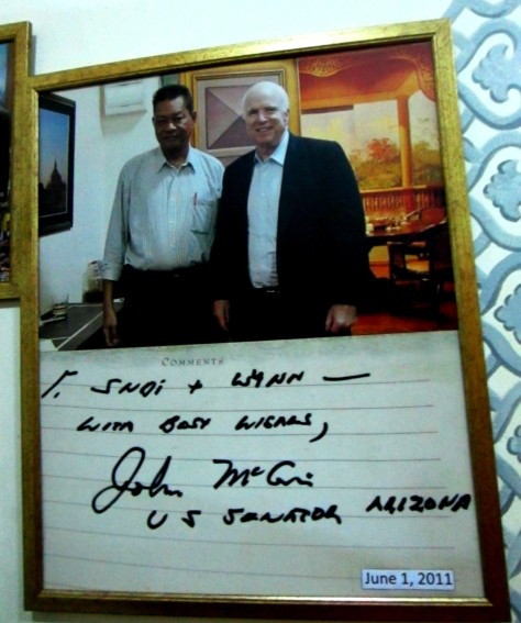U Sonny Aung Khin with Senator John McCain