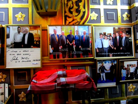 U Sonny's Hall of Fame, including a photo with US Senator John McCain