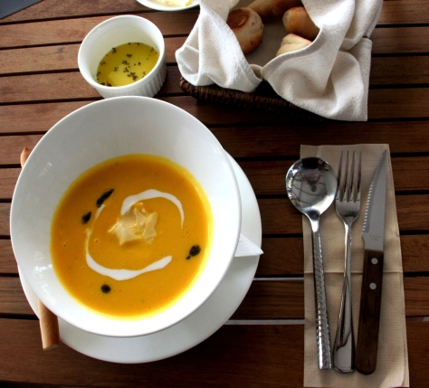 Pumpkin soup - one of the daily specials