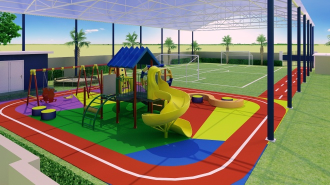 A graphic of BISY's playground