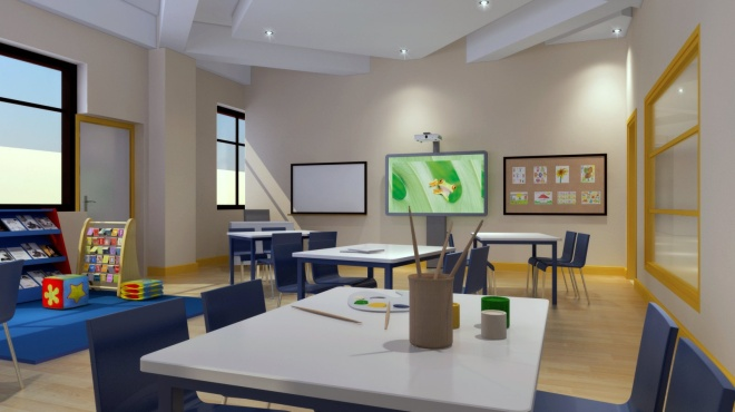 A graphic of BISY's classrooms