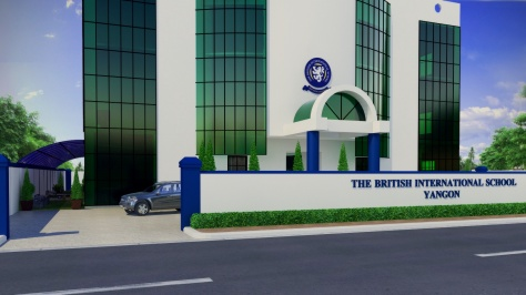 A graphic of BISY's front building