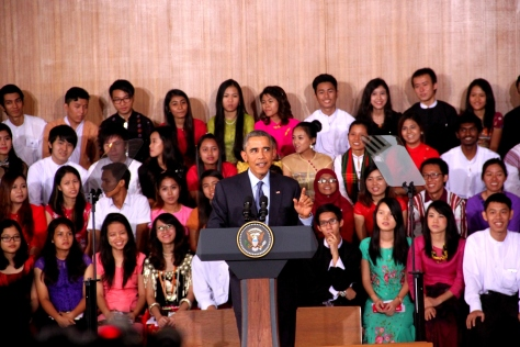 President Obama clearly enjoyed interacting with young people
