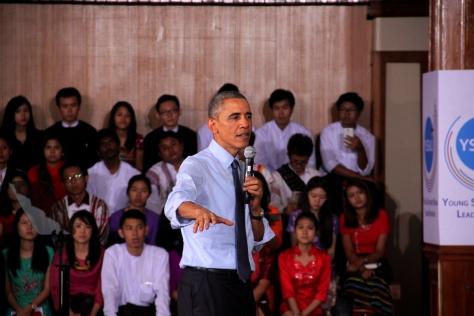 Obama the orator in full swing