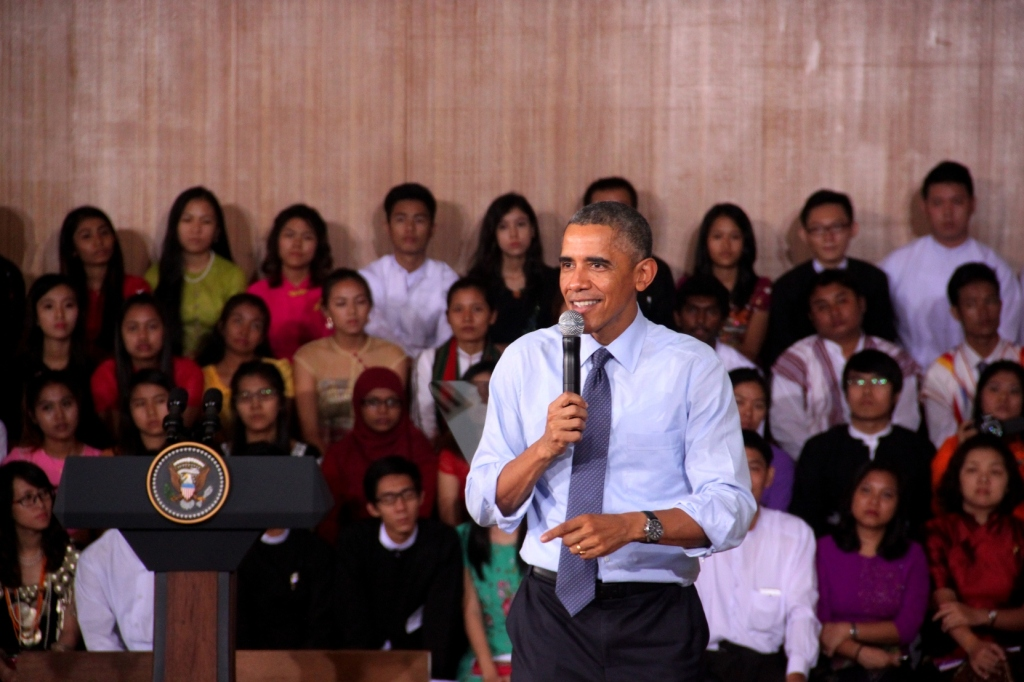 President Obama at Yangon University on 14 November 2014