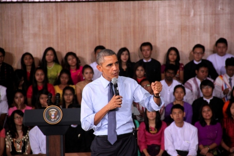 Obama's administration unclenched its fist for Myanmar whilst it was still very much a rogue country