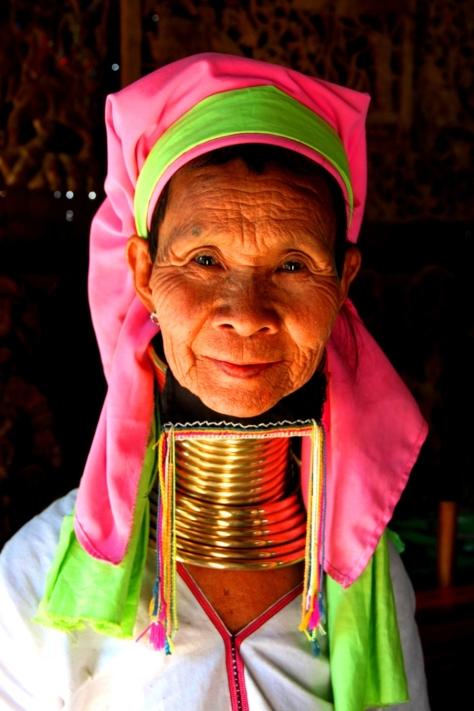 A Padaung woman in Old Bagan