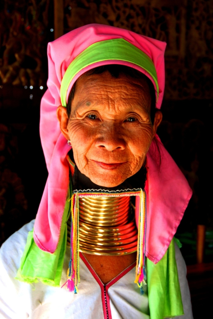 A Padaung woman in Old Bagan