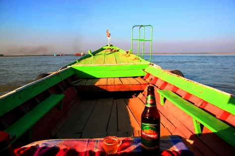 Beers, a picture perfect sunset, private boat and epic temples - what more could you want?