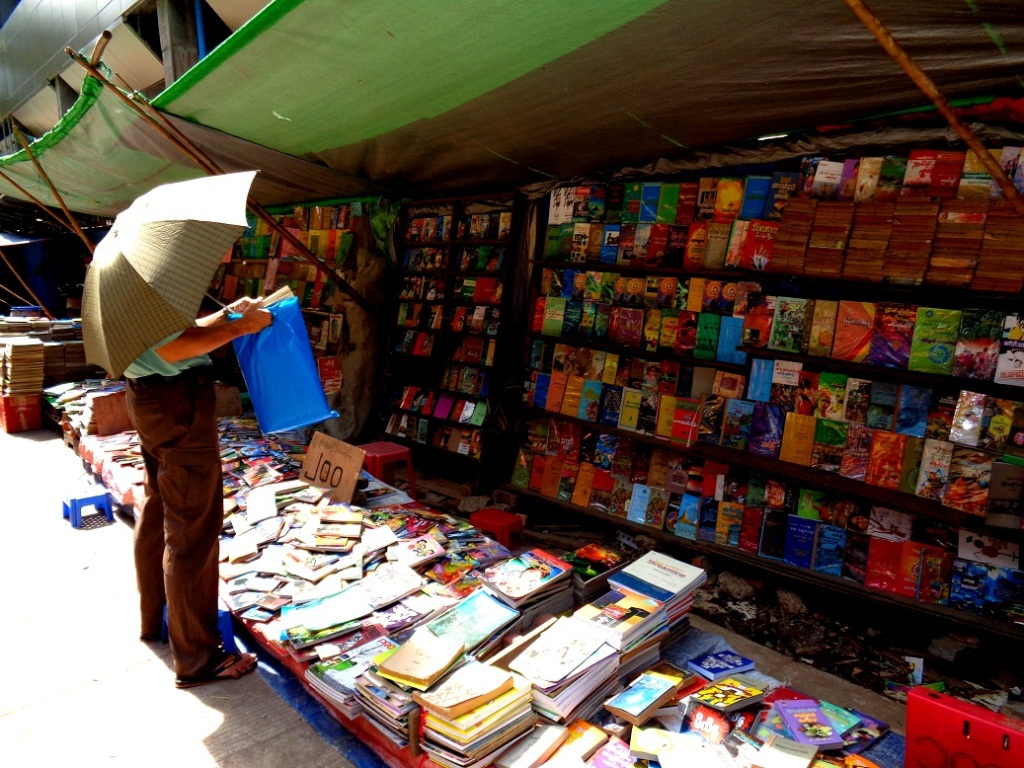 38th Street is home to Bagan Book House and a collection of open air bookstores