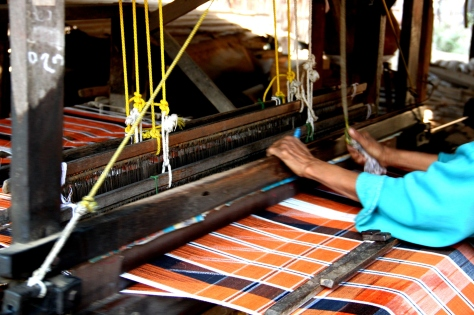 A traditional Burmese loom