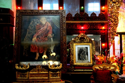 A shrine at Myo Ma Ahle Monastery