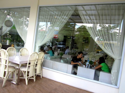 Outdoor seating is also available